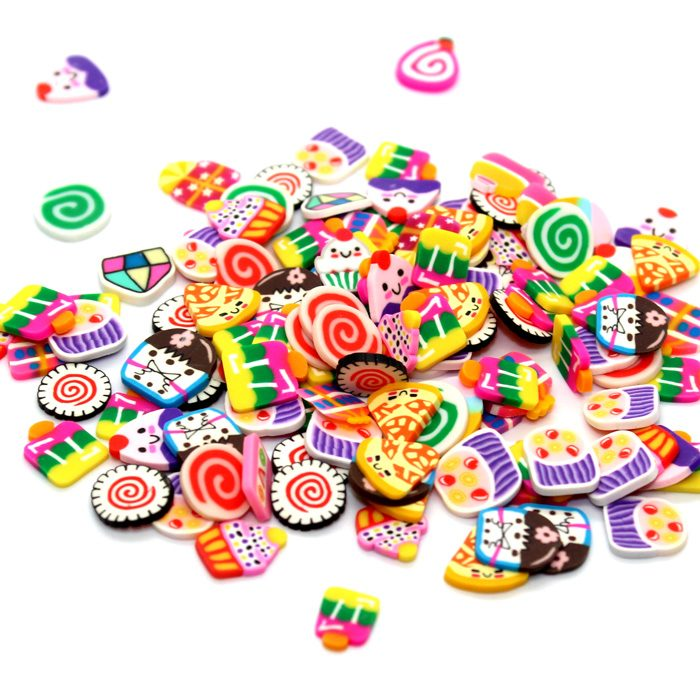 Large Party 1cm fimo slices for slime