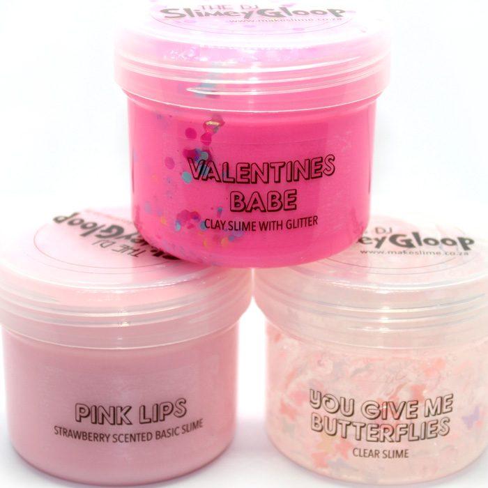 Valentines Pink Slime Trio