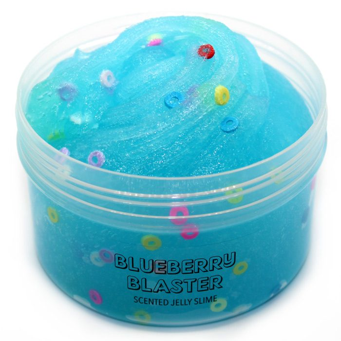 Blueberry blaster scented jelly slime