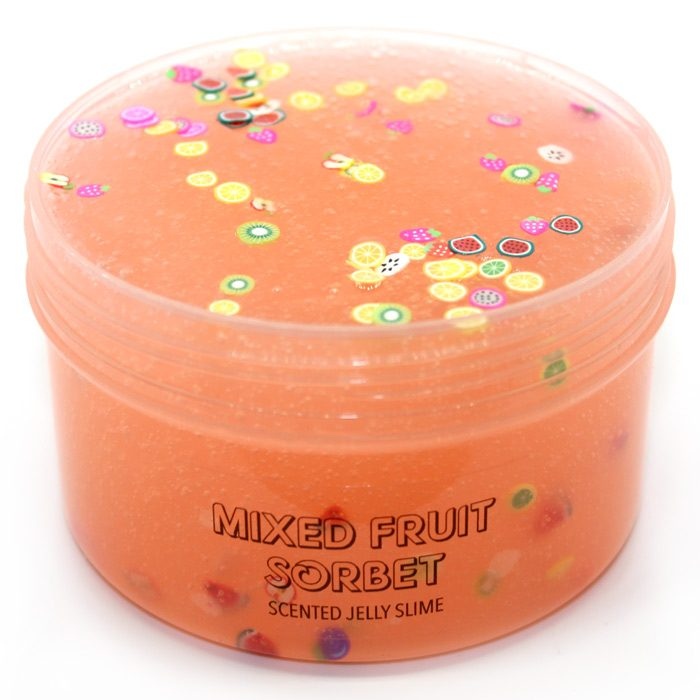Mixed fruit sorbet scented jelly slime