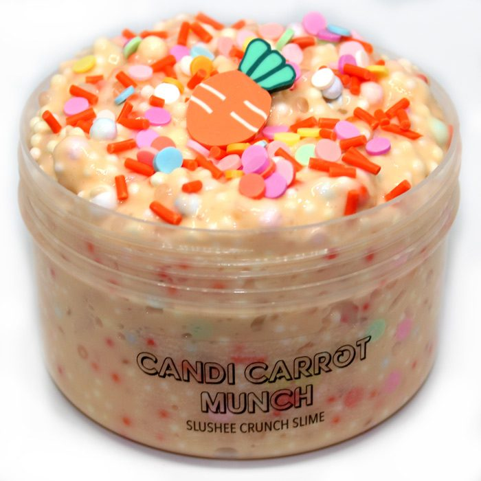 Candi carrot Munch slushee and foam slime