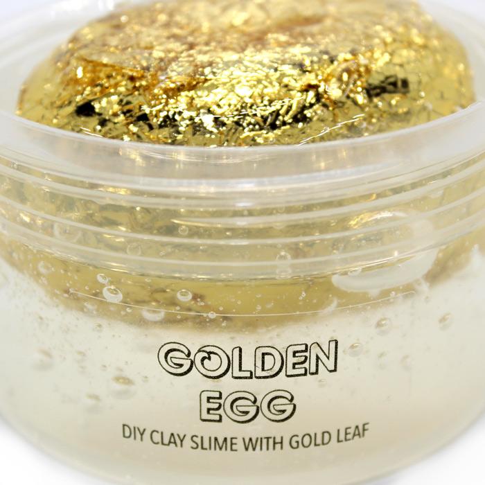 Golden Egg diy clay slime