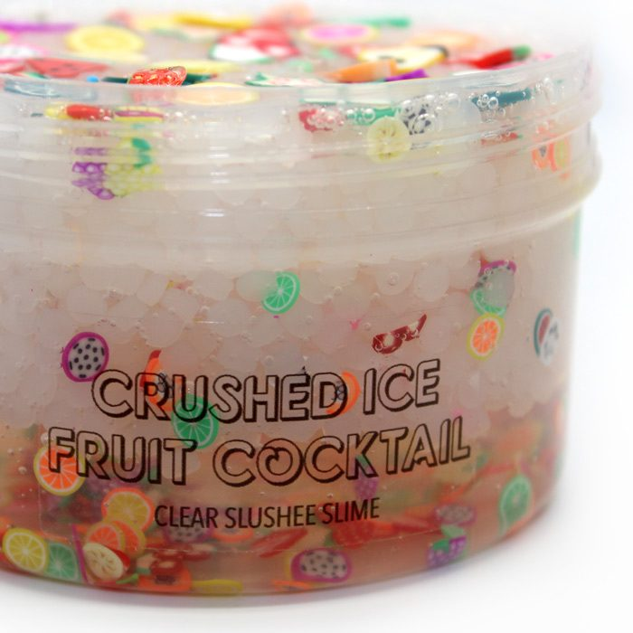 Crushed ice fruit cocktail slime