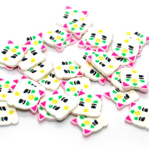 Large kitty cat fimo slices for slime