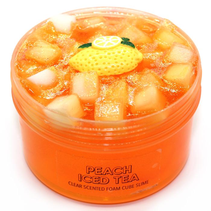 Peach iced tea clear slime