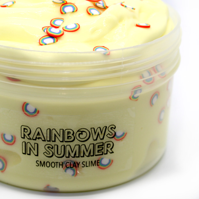 Rainbows in summer scented clay slime