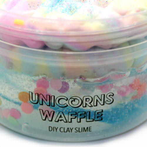 unicorns waffle diy clay slime