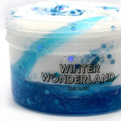 Winter wonderland clay slime