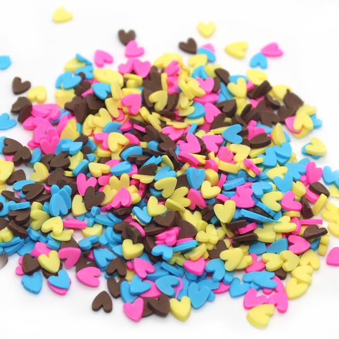 Heart sprinkles for slime