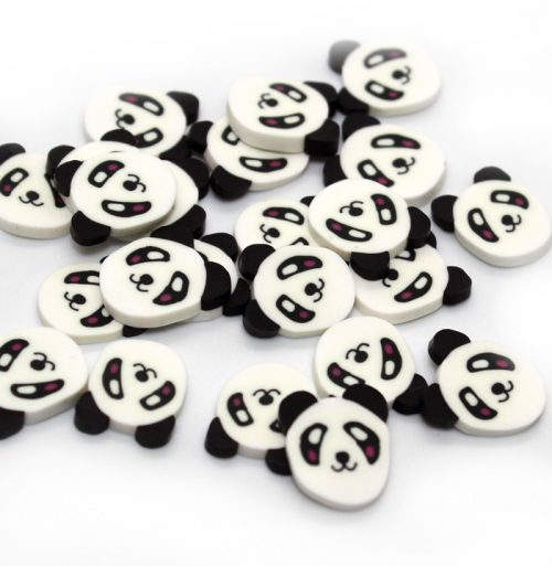 Large Panda fimo slices for slime