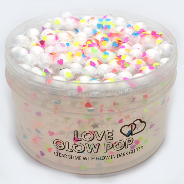 Love glow Pop clear slime