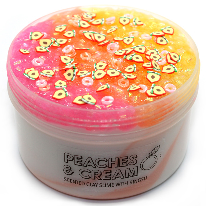 Peaches and cream bingsu clay slime