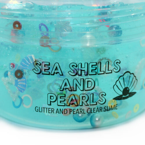 Seashells and pearls clear slime