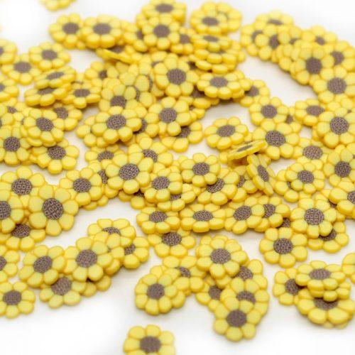 sunflower fimo slices for slime