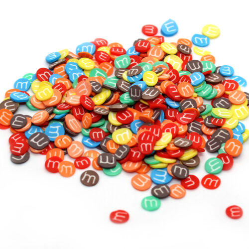 MnM fimo slices for slime