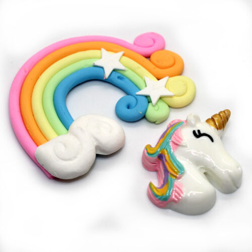 Unicorn and Rainbow charm for slime