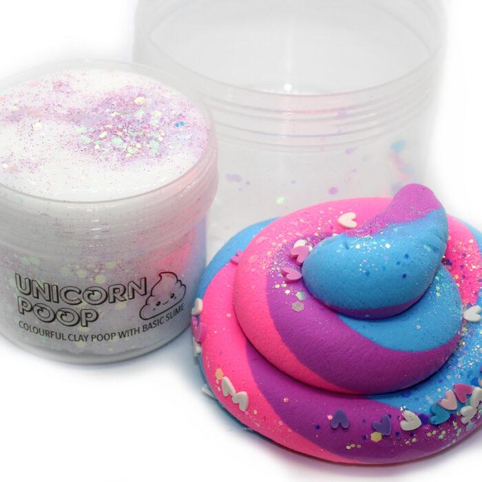 Unicorn poop diy clay slime