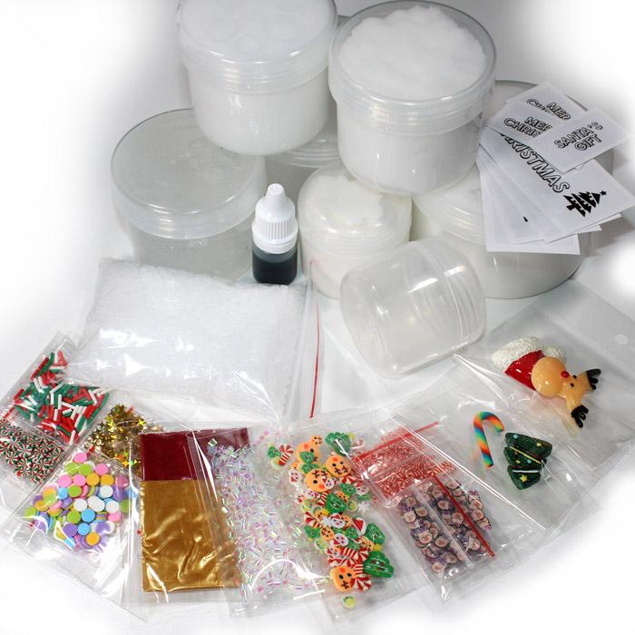 DIY Christmas slime gift kit