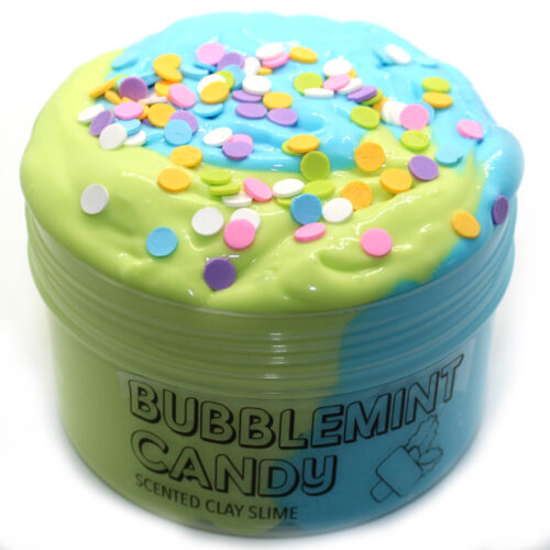 Bubblemint candy scented clay slime