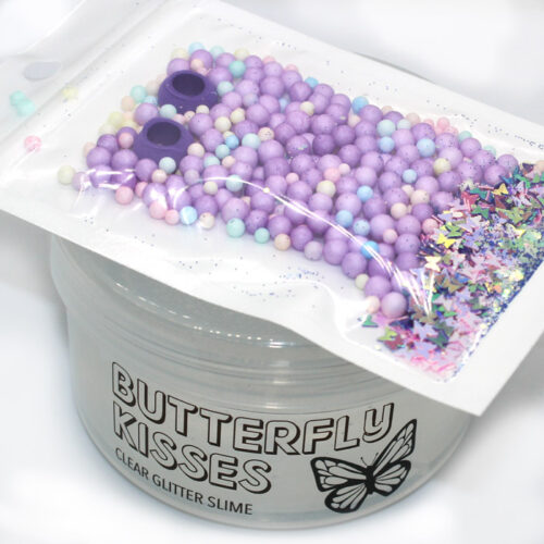 Butterfly Kisses clear slime