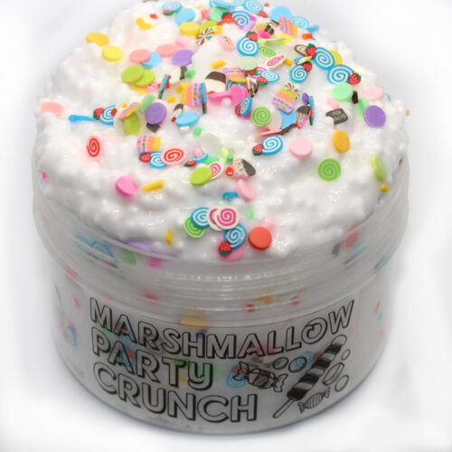 Marshmallow party crunch scented floam Slime