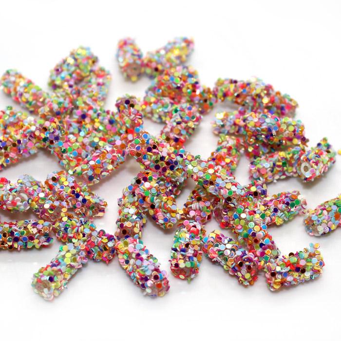 Squishy glitter tubes for slime