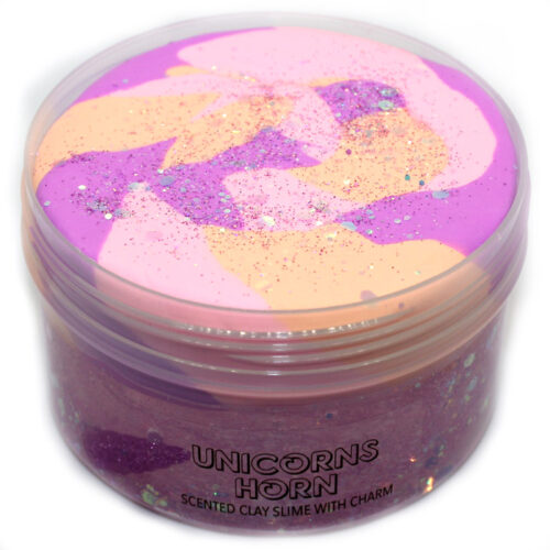 Unicorns horn scented clay slime