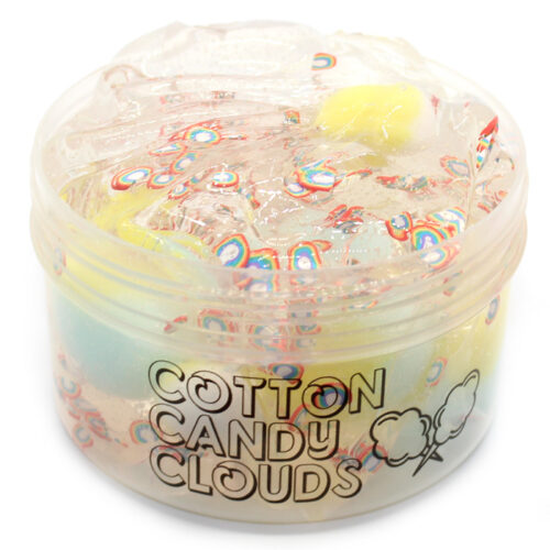Cotton candy clouds clear slime