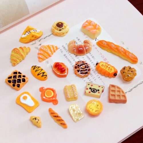 Mixed bakery charms for slime 4pc