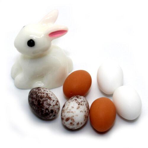Bunny and eggs charms