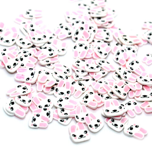 Cute bunny fimo slices for slimeCute bunny fimo slices for slime