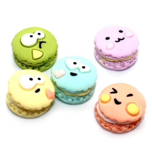 Emoji macaron charms for slime