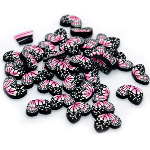 Big butterfly fimo slices for slime