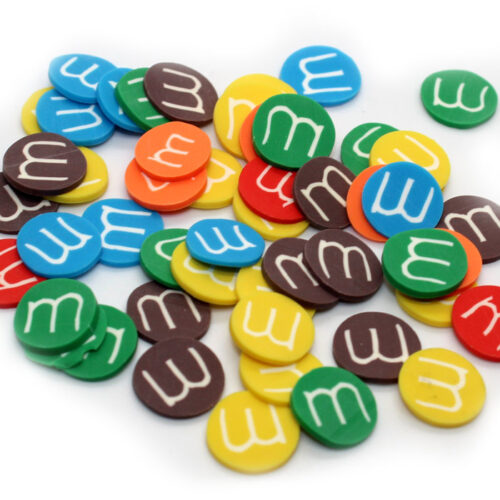 Big mnm fimo slices for slime