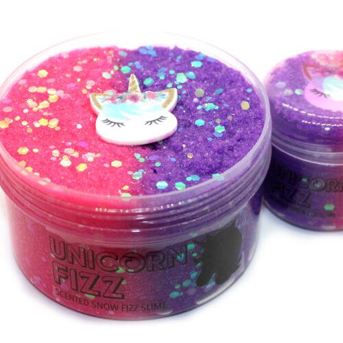 Unicorn fizz scented snow fizz slime