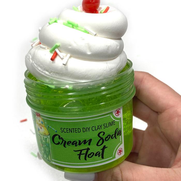 Cream Soda float diy clay slime