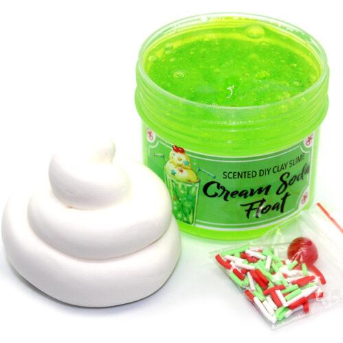 Cream Soda float scented diy clay slime