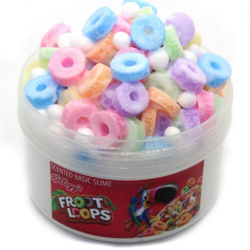 Fruit loops scented crunch slime