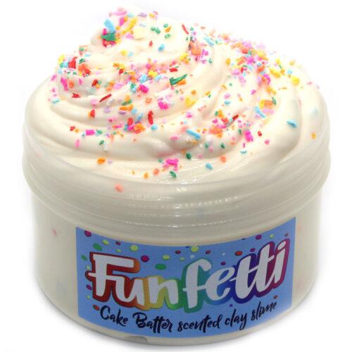 funfetti cake batter clay slime