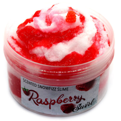 Raspberry Swirl snow Fizz Slime scented